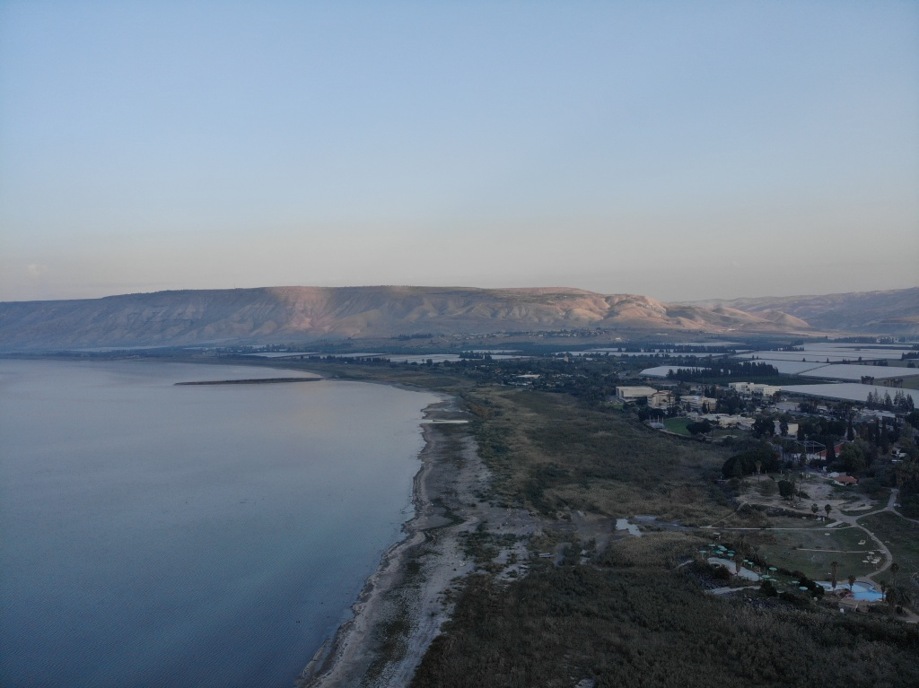 Sea of Galilee and Golan Hills