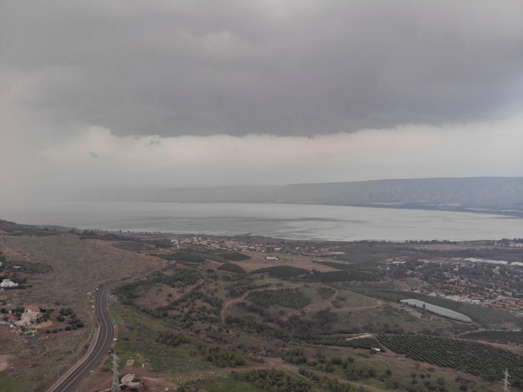 Sea of Galilee, Jordan Valley and Golan Hills