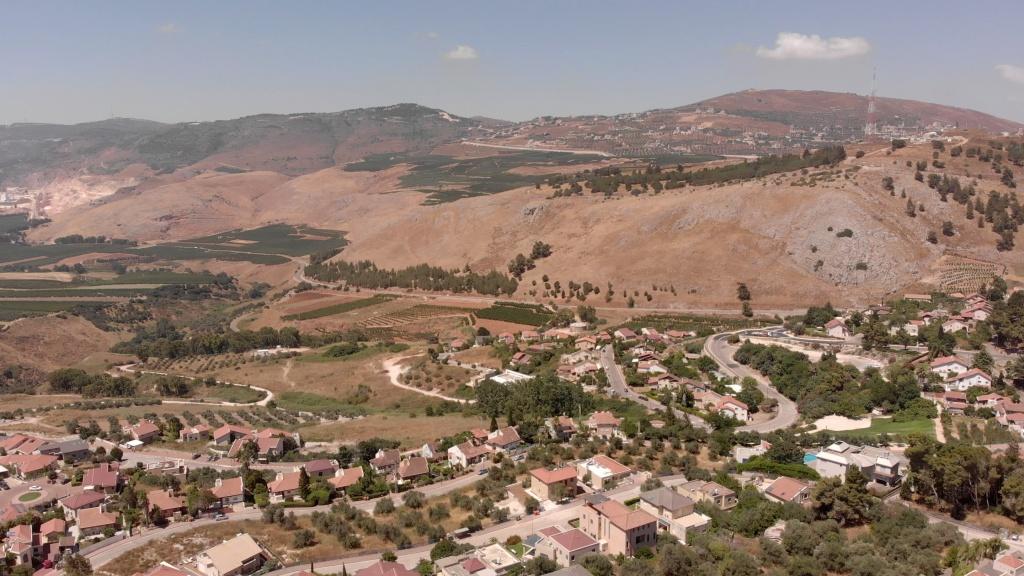 Israel and Lebanon Border at Metula, North of Israel